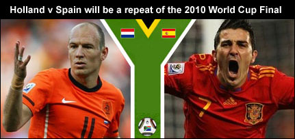 Holland v Spain World Cup betting odds