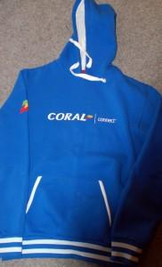 coral hoodies